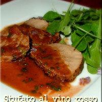 Stufato al vino rosso - vörösborban párolt marhahús