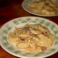Boros-tejszínes csirkemell gnocchival