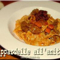 Pappardelle tészta kacsaraguval – Pappardelle all' anitra