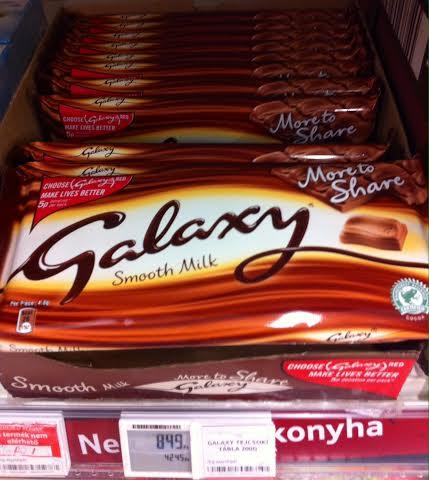 Galaxy óriás táblás csokoládé