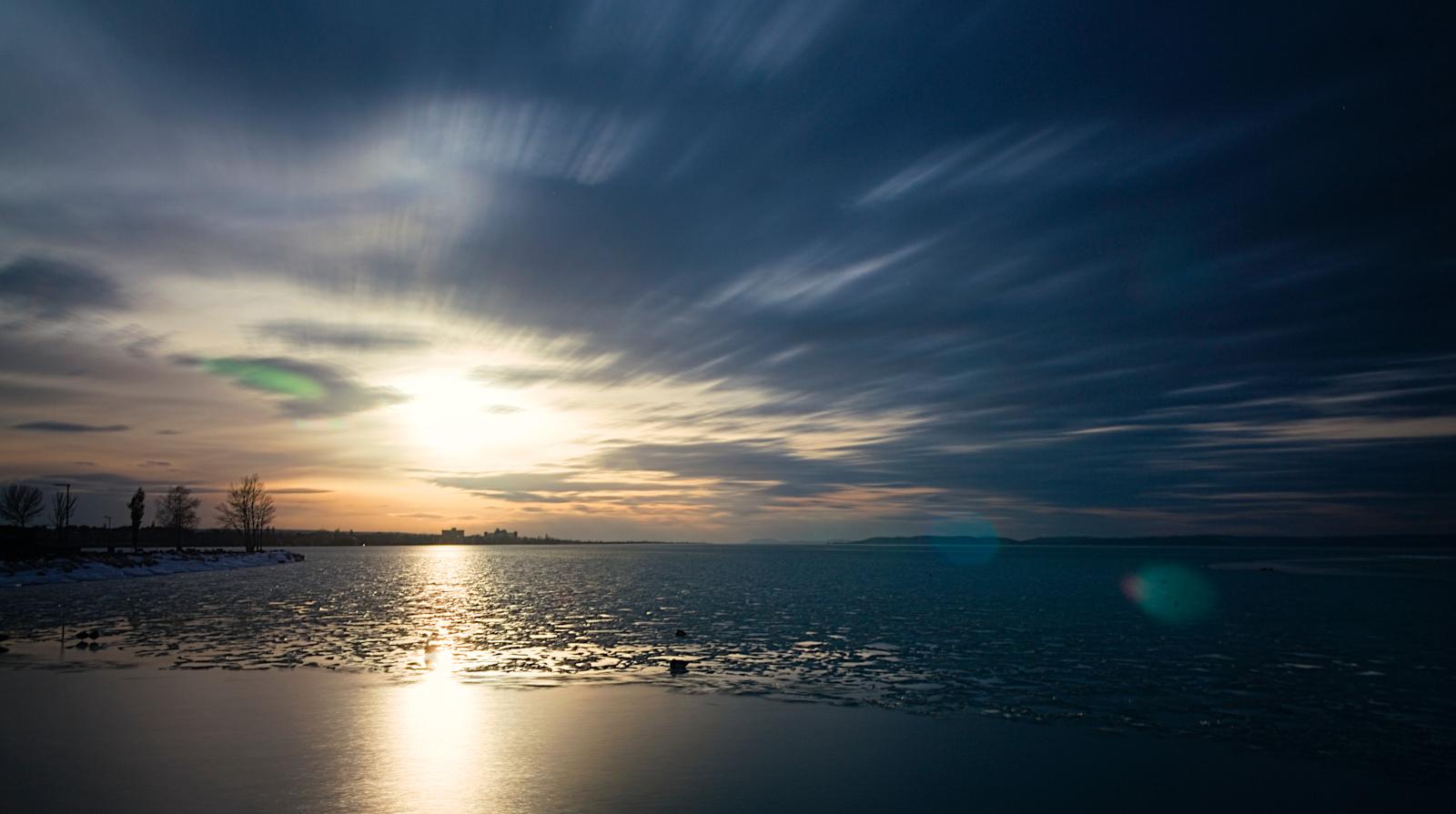 Egy perc a naplementéből - 3db 20mp-es expozícióból fűzve