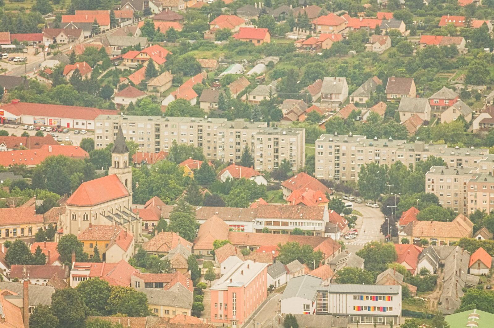 Mór belvárosa (a templom korábban már szerepelt az oldalon)