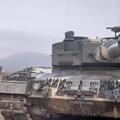 Magyar Leopard harckocsik éleslövészete