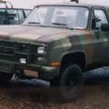 Chevrolet Blazer katonai szolgálatban