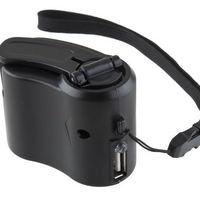 Kurblis USB töltő, tekerős mobiltelefon akkumulátor vésztöltő