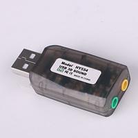 USB-s külső hangkártya fülhallgató kimenettel és mikrofon bemenettel