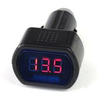 Szivargyújtós feszültség mérő, töltöttség ellenőrző (Autó akkumulátor feszültségmérő, 12V, 24V)