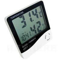Asztali óra, hőmérséklet és páratartalom mérő (hőmérő)
