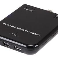 Hordozható, külső akkumulátor töltő MiniUSB-s csatlakozós telefonokhoz