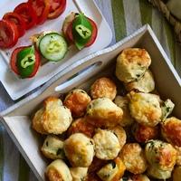 Spenótos-sajtos pogácsa