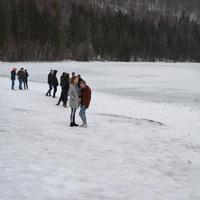 Szent Anna tó jegén