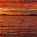 Lenyűgöző naplemente Balatonszárszón, február végén