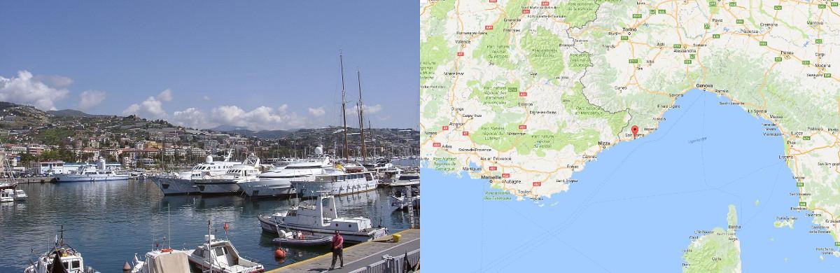 Sanremo a francia-olasz határtól 20 km-re, Monte-Carlotól kb 40 km-re található.<br />Az olasz tengerpart ezen szakasza lényegében a francia Riviéra folytatása.