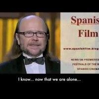 Santiago Segura a spanyol díjátadokról