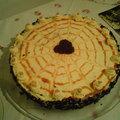 Narancslekváros, vaníliakrémes torta