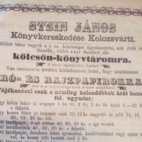 Stein János, egy sokoldalú erdélyi könyvkereskedő a 19. századból