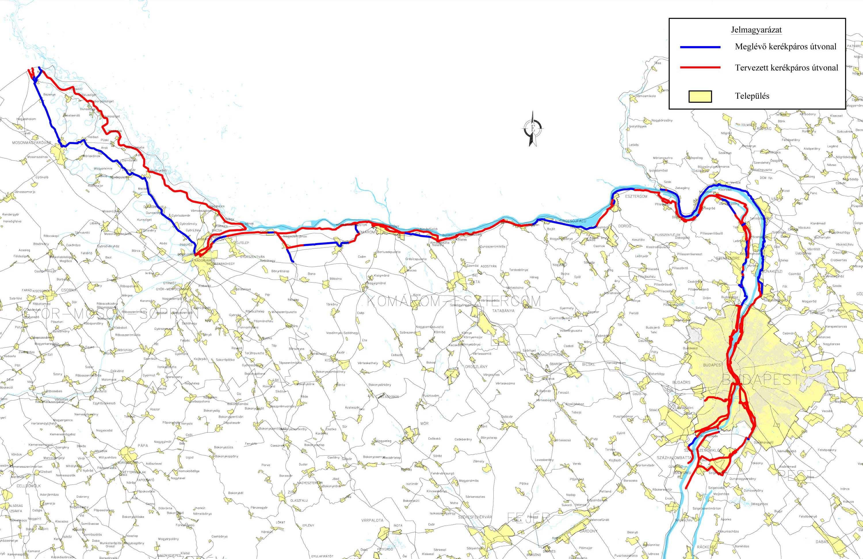 kerékpárút magyarország térkép Dömös Szentendre közötti kerékpárút építése 2019. évben kezdődik  kerékpárút magyarország térkép
