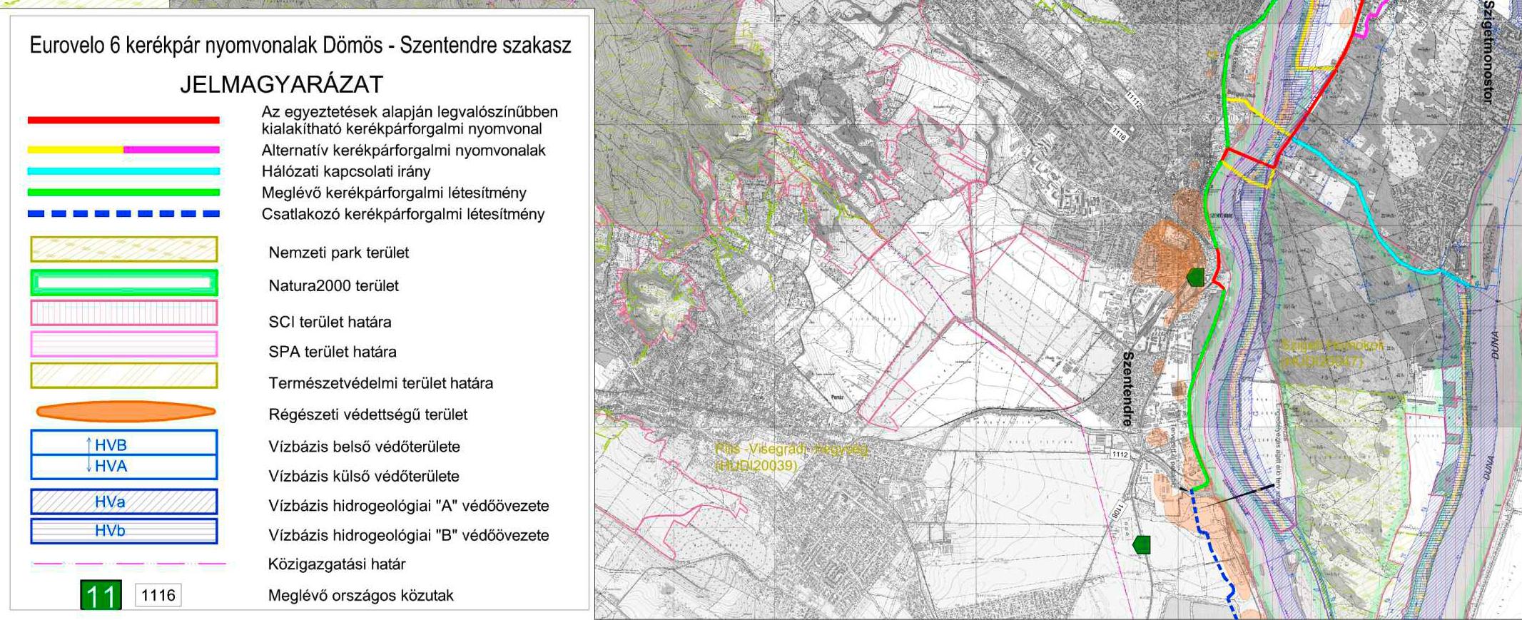 szigetmonostor térkép EUROVELO 6 nyomvonala: Dömös, Visegrád, Dunabogdány, Kisoroszi  szigetmonostor térkép