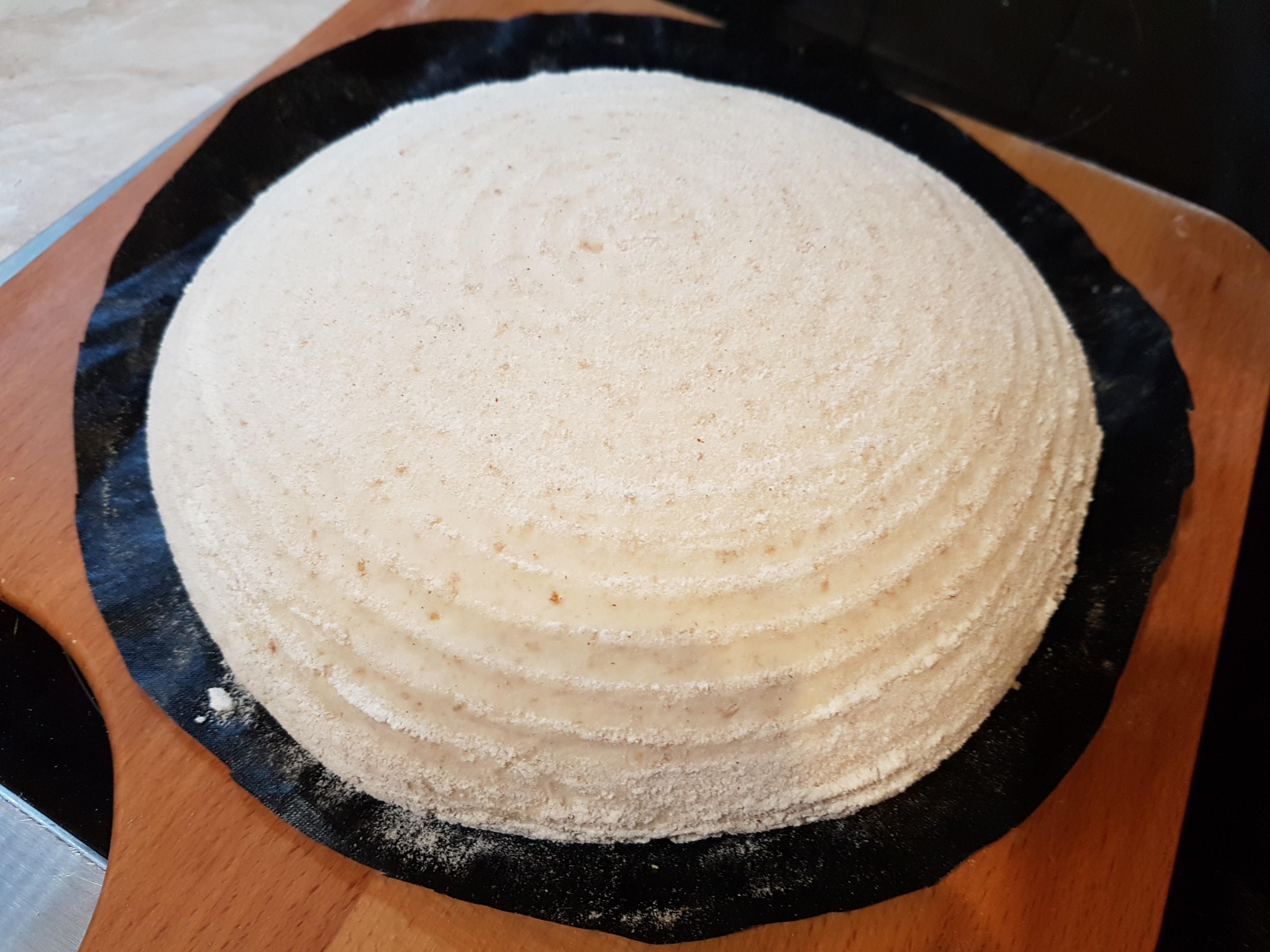 szakajtóból sütőfóliára borítva