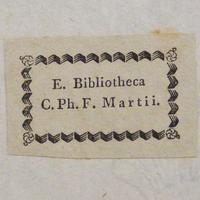 Szignet No.: 7 - Ex Bibliotheca C. Ph. F. Martii