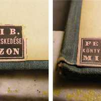 Szignet No.: 8 - Ferenczi B. könyv- és papírkereskedése Miskolczon