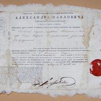 Útlevél 1822-ből