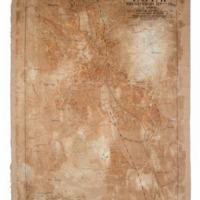 Eger megyei város térképe 1930-ból