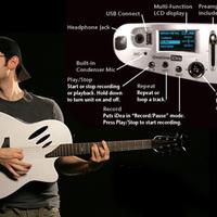 A beépített MP3-lejátszós gitár