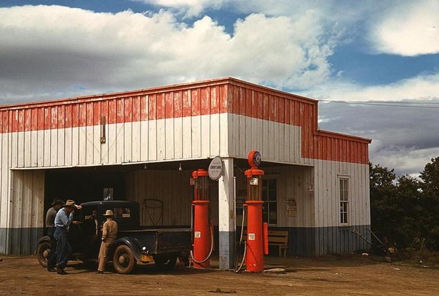 benzinkút, Pie Town, New Mexico, 1940.jpg