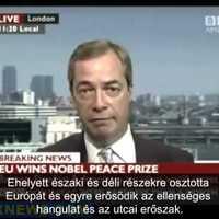 Farage az Eu-nobeljéről és a görögökről