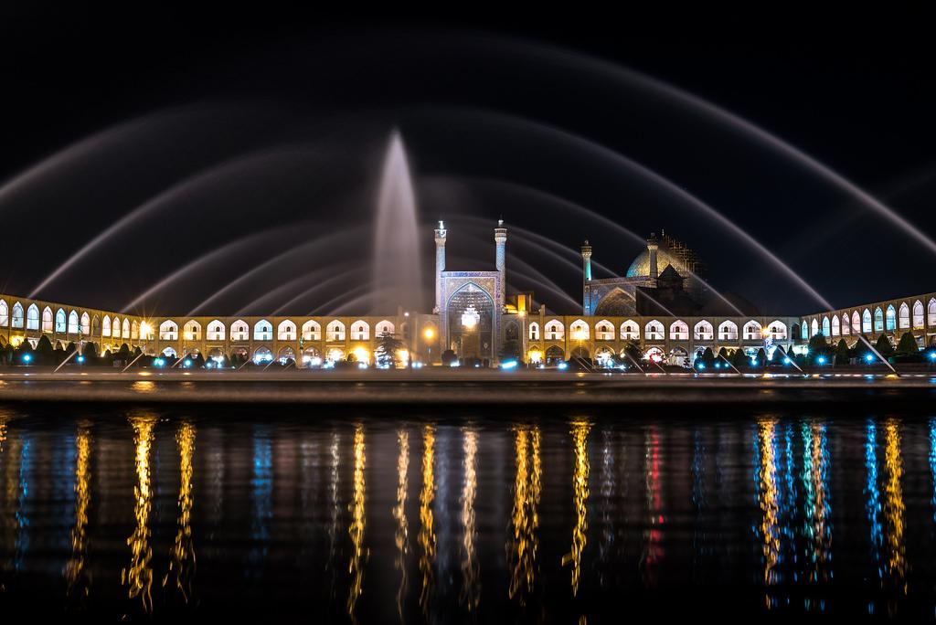 Iszfahán központjának a látképe, a világ legnagyobb terével