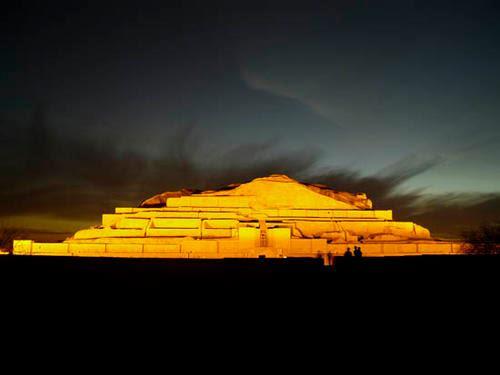 A Chogha Zanbil ziggurat a sumerokkal egyidős elámi korszakból