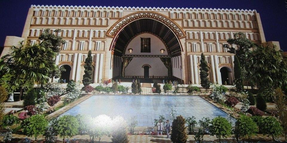 Ctesiphon romja a világ legnagyobb boltívével (Ctesiphon volt a Pártus és a Szászánida Birodalom fővárosa, és földrajzilag nincs messze a mai Bagdadtól), hogy nézhetett ki (ma Irak)