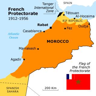 Marokkó franciák által gyarmatosított területe