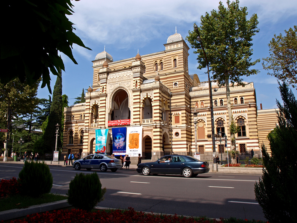Grúzia, Tbiliszi: Operett és Balett Színház mór stílusú épülete