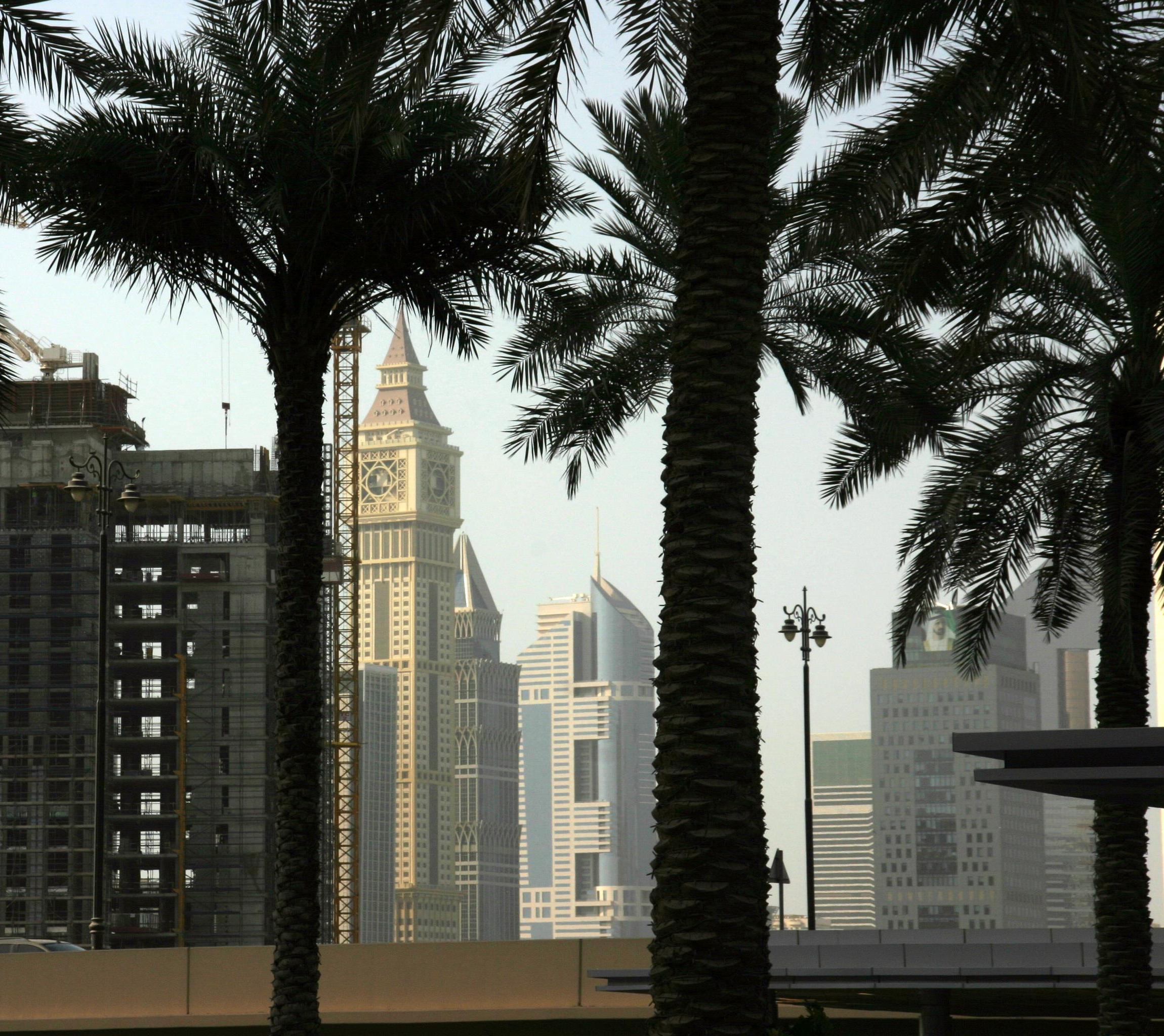 A Sheik Zayed Road felhőkarcolói