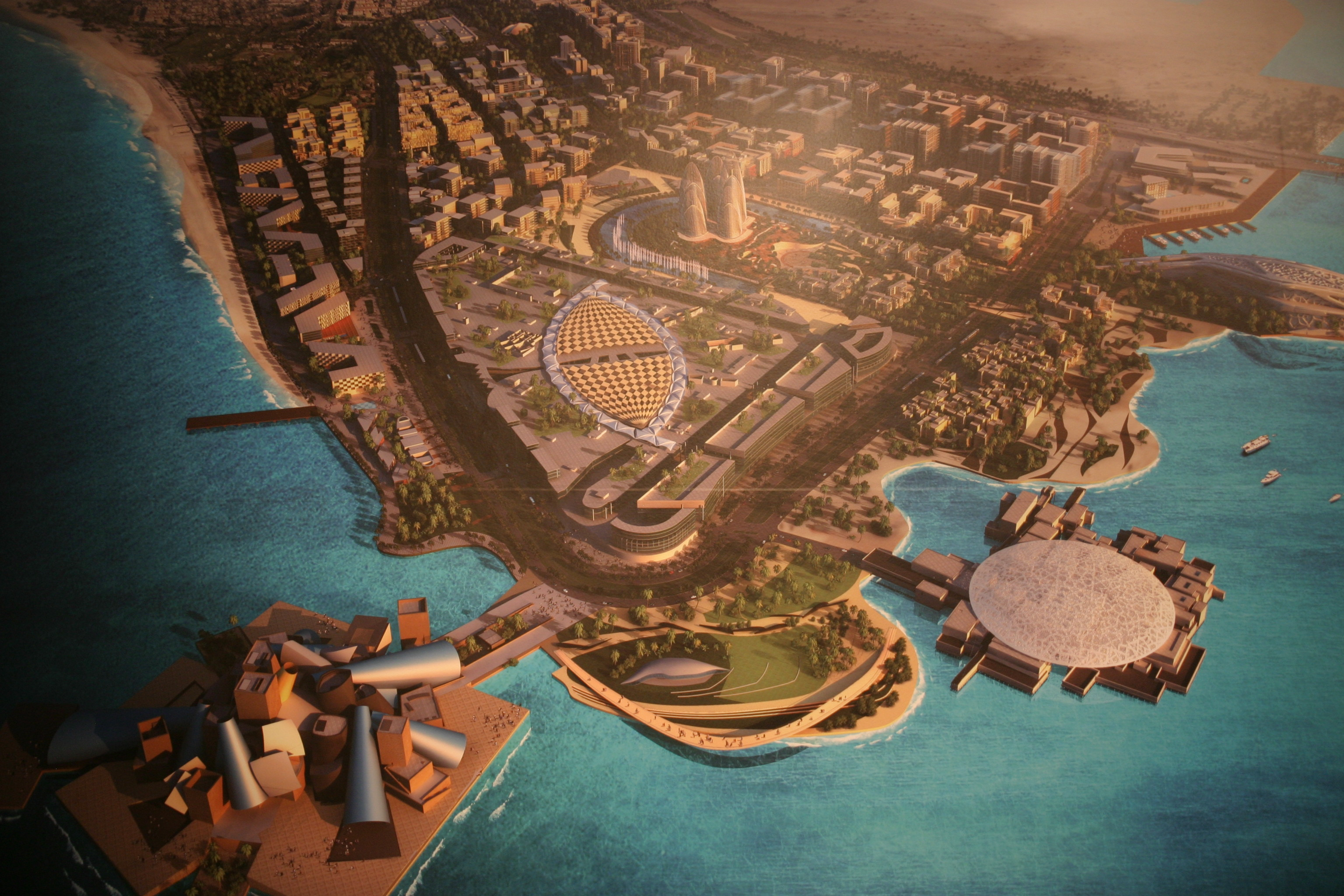 A Saadiyat szigeten épülnek a Guggenheim és a Louvre Múzeumok