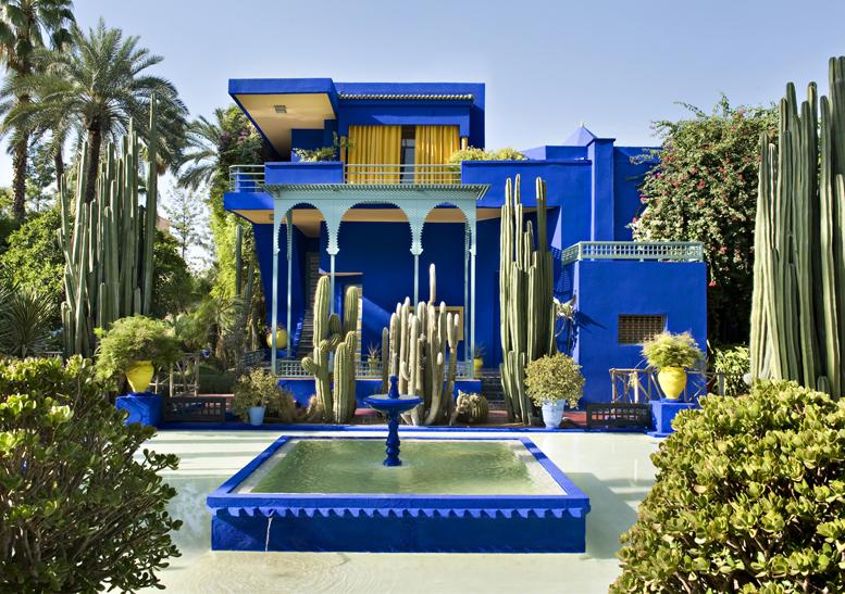 Yves Saint Laurent emlékhelye Marrakechben a Majorelle kertben