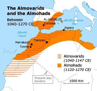 Az Almoravida és az Almohád dinasztiák területe