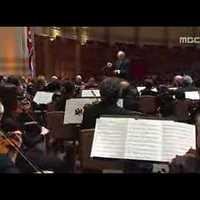 A New York-i Filharmonikusok egy koreai népdalt játszanak Észak-Koreában