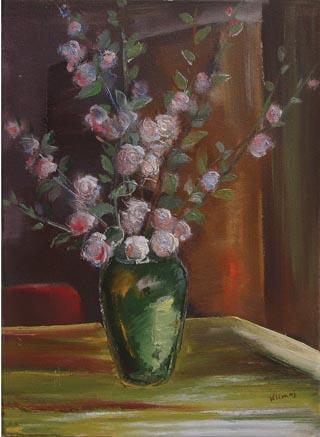 Virág csendélet festése