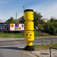 LEGO totem a Fehérvári úton