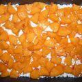 Túrós-barackos kevert süti