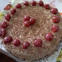Közkívánatra: Meggyes étcsokoládé torta