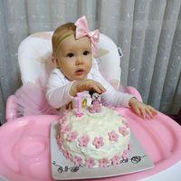 Zoé baba első szülinapi tortája