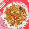 Magyaros kínai zöldséges csirke