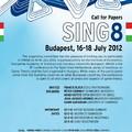 Konferencia-felhívás: SING8