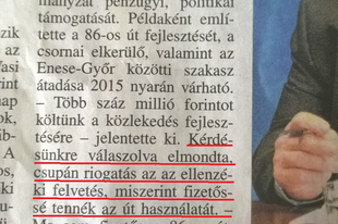 Hende Csaba nincs tisztában az útdíjjal