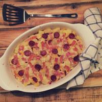 Tej- és tojásmentes rakott krumpli - és így is finom!