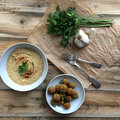 Falafel és hummusz